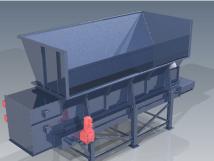 Bunker mit Förderbandaustrag - Eigenkonstruktion